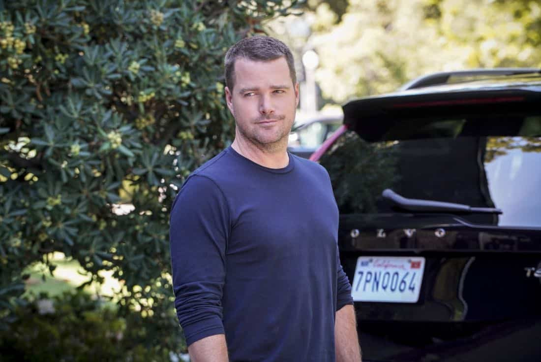 """""""Fool Me Twice"""" -- Pictured: Chris O'Donnell (Special Agent G. Callen). Callen and the team question CIA Agent Joelle Taylor's (Elizabeth Bogush) backstory after she escapes from a kidnapping and turns to Callen for help, on NCIS: LOS ANGELES, Sunday, Nov. 26 (9:30-10:30 PM, ET/9:00-10:00 PM, PT) on the CBS Television Network. Photo: Bill Inoshita/CBS ©2017 CBS Broadcasting, Inc. All Rights Reserved."""