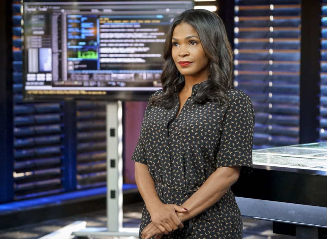 """""""Fool Me Twice"""" -- Pictured: Nia Long (Executive Assistant Director Shay Mosley). Callen and the team question CIA Agent Joelle Taylor's (Elizabeth Bogush) backstory after she escapes from a kidnapping and turns to Callen for help, on NCIS: LOS ANGELES, Sunday, Nov. 26 (9:30-10:30 PM, ET/9:00-10:00 PM, PT) on the CBS Television Network. Photo: Bill Inoshita/CBS ©2017 CBS Broadcasting, Inc. All Rights Reserved."""