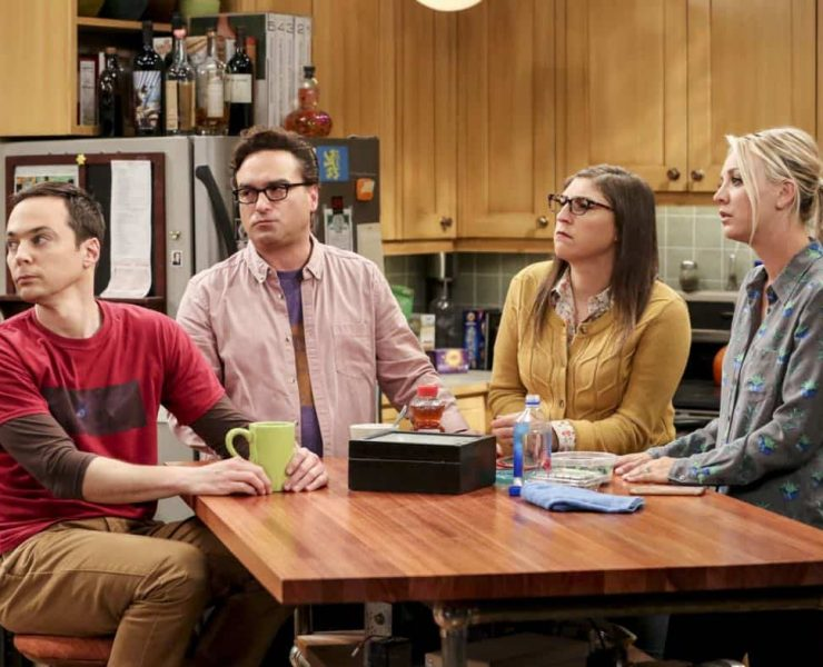"""The Bitcoin Entanglement"" -- Pictured: Sheldon Cooper (Jim Parsons), Leonard Hofstadter (Johnny Galecki), Amy Farrah Fowler (Mayim Bialik) and Penny (Kaley Cuoco). Sheldon tries to teach the guys a lesson after they cut him out of a potentially valuable Bitcoin investment. Also, a seven-year-old video reveals a secret about Leonard and Penny's relationship, on THE BIG BANG THEORY, Thursday, Nov. 30 (8:00-8:31 PM, ET/PT) on the CBS Television Network. Photo: Michael Yarish/Warner Bros. Entertainment Inc. © 2017 WBEI. All rights reserved."