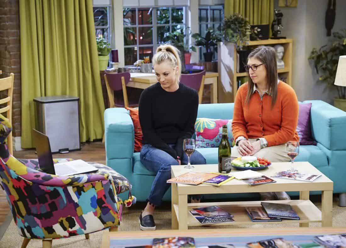 """The Confidence Erosion"" -- Pictured: Penny (Kaley Cuoco) and Amy Farrah Fowler (Mayim Bialik). Sheldon and Amy try to eliminate stress from wedding planning by applying math to the process. Also, Koothrappali ""breaks up"" with Wolowitz after realizing his best friend is actually hurting his confidence, on THE BIG BANG THEORY, Thursday, Dec. 7 (8:00-8:31 PM, ET/PT) on the CBS Television Network. Photo: Monty Brinton/CBS ©2017 CBS Broadcasting, Inc. All Rights Reserved."