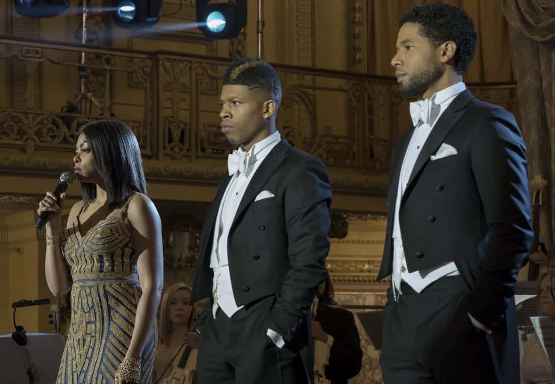 "EMPIRE: Pictured L-R: Taraji P. Henson, Bryshere Gray and Jussie Smollett in the ""Slave to Memory"" episode of EMPIRE airing Wednesday, Dec. 13 (8:00-9:00 PM ET/PT) on FOX. ©2017 Fox Broadcasting Co. CR: Chuck Hodes/FOX"
