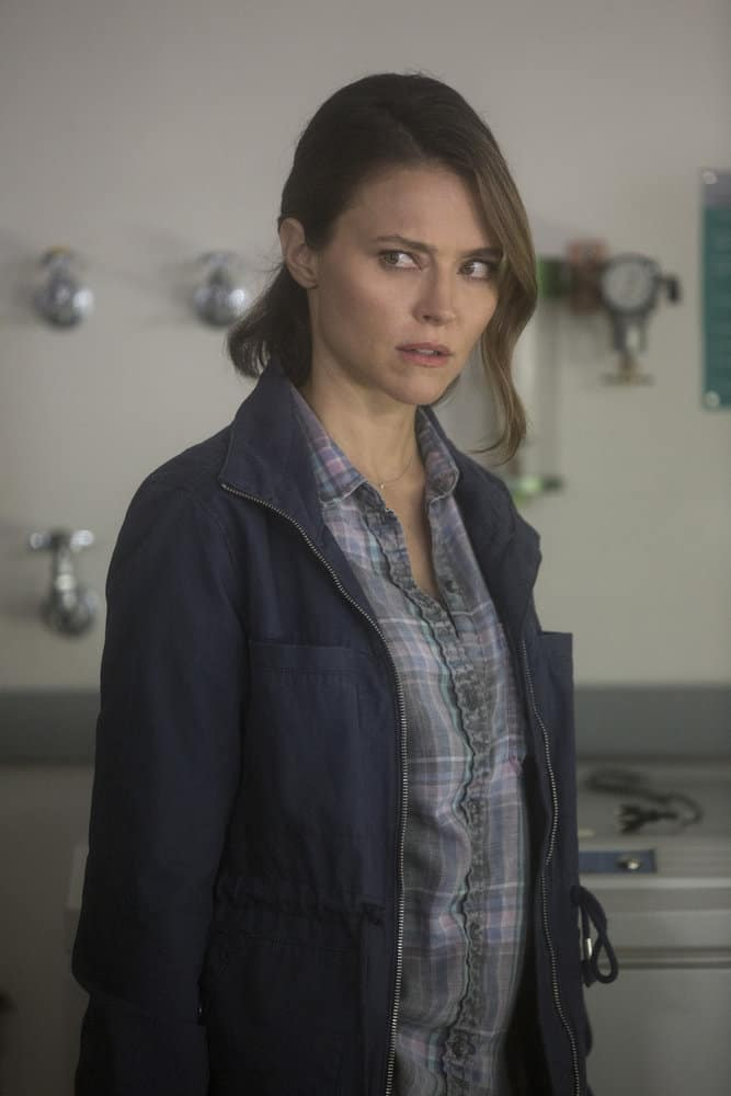 """BLINDSPOT -- """"Fix My Present Havoc"""" Episode 307 -- Pictured: Trieste Kelly Dunn as Allie Knight -- (Photo by: Eric Liebowitz/NBC/WarnerBros)"""