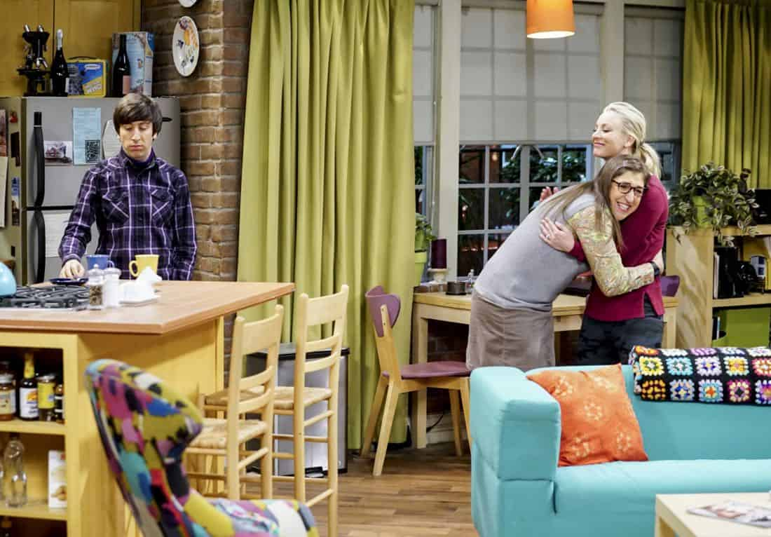"""""""The Matrimonial Metric"""" -- Pictured: Howard Wolowitz (Simon Helberg), Amy Farrah Fowler (Mayim Bialik) and Penny (Kaley Cuoco). To discover who would be most qualified to be best man and maid of honor at their wedding, Sheldon and Amy subject their friends to a series of secret experiments. Also, Penny reveals her true feelings about Amy, on THE BIG BANG THEORY, Thursday, Jan. 4 (8:00-8:31 PM, ET/PT) on the CBS Television Network. Photo: Sonja Flemming/CBS ©2017 CBS Broadcasting, Inc. All Rights Reserved."""