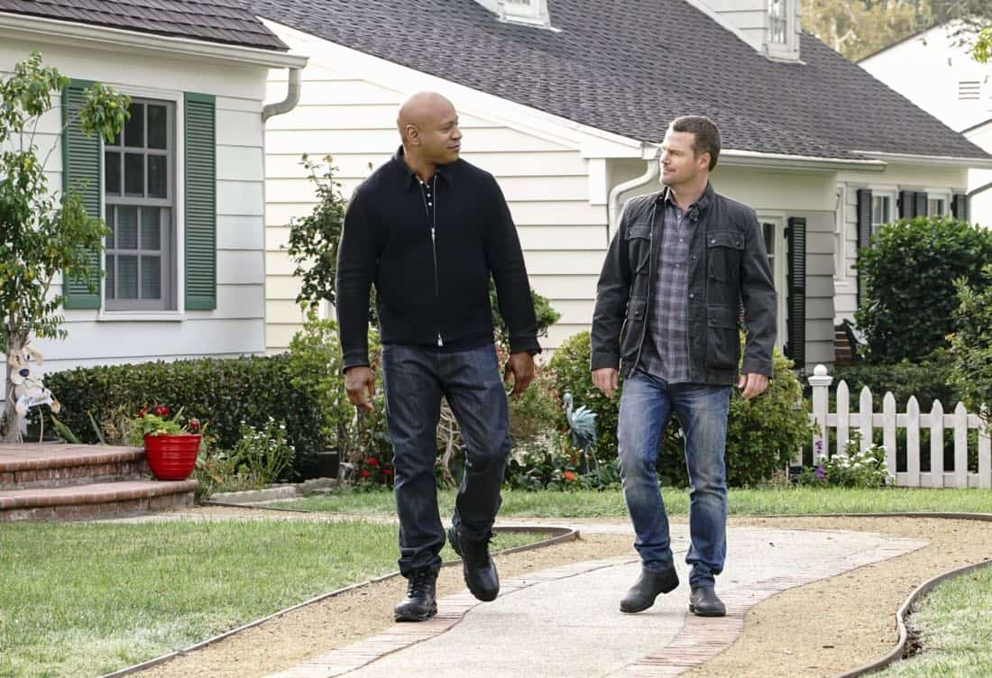 """""""Under Pressure"""" -- Pictured: LL COOL J (Special Agent Sam Hanna) and Chris O'Donnell (Special Agent G. Callen). After napalm is detected at a crime scene, the NCIS team investigates the sole casualty for possible links to terrorism, on NCIS: LOS ANGELES, Sunday, Jan. 7 (9:00-10:00 PM, ET/PT) on the CBS Television Network. Photo: Bill Inoshita/CBS ©2017 CBS Broadcasting, Inc. All Rights Reserved."""