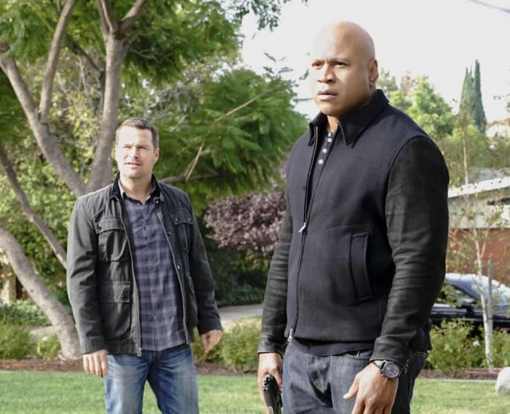 """Under Pressure"" -- Pictured: Chris O'Donnell (Special Agent G. Callen) and LL COOL J (Special Agent Sam Hanna). After napalm is detected at a crime scene, the NCIS team investigates the sole casualty for possible links to terrorism, on NCIS: LOS ANGELES, Sunday, Jan. 7 (9:00-10:00 PM, ET/PT) on the CBS Television Network. Photo: Bill Inoshita/CBS ©2017 CBS Broadcasting, Inc. All Rights Reserved."