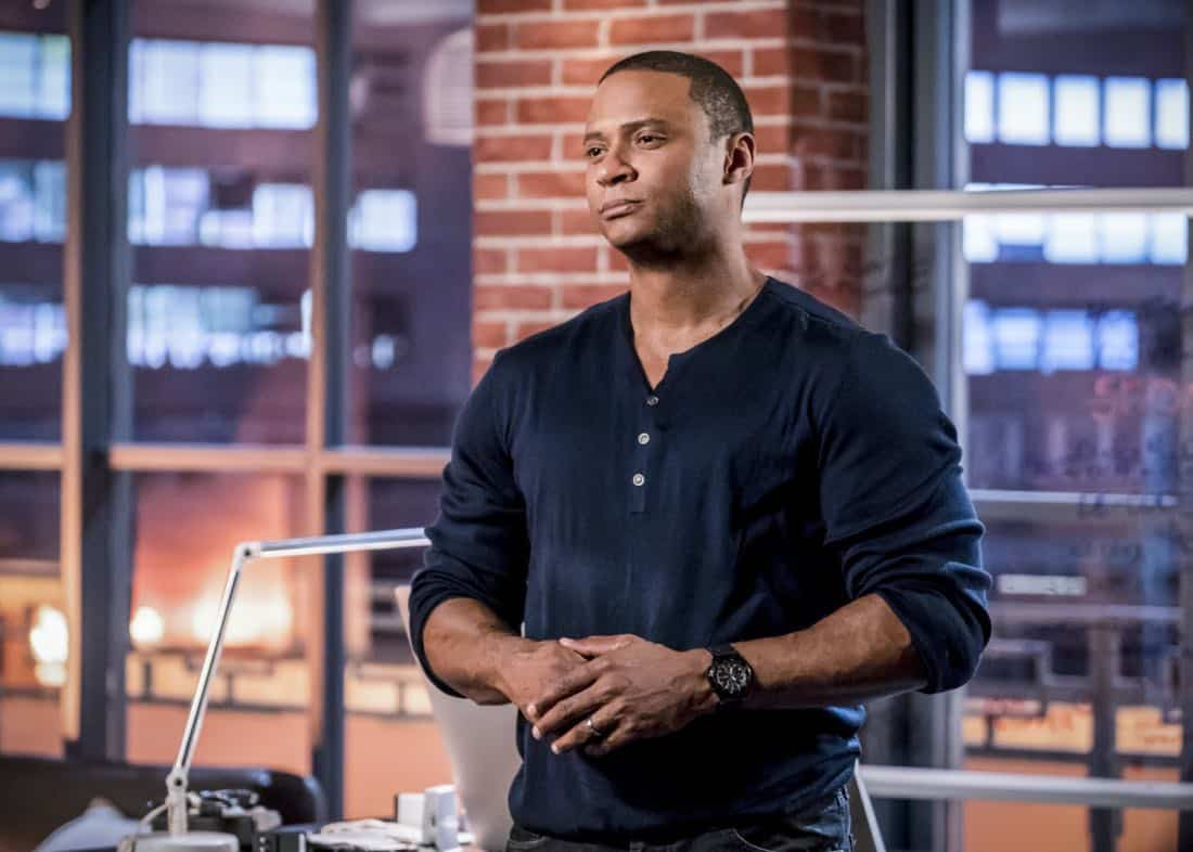 """Arrow -- """"Divided"""" -- Image Number: AR610b_0216.jpg -- Pictured: David Ramsey as John Diggle/Spartan -- Photo: Daniel Power/The CW -- © 2018 The CW Network, LLC. All Rights Reserved."""