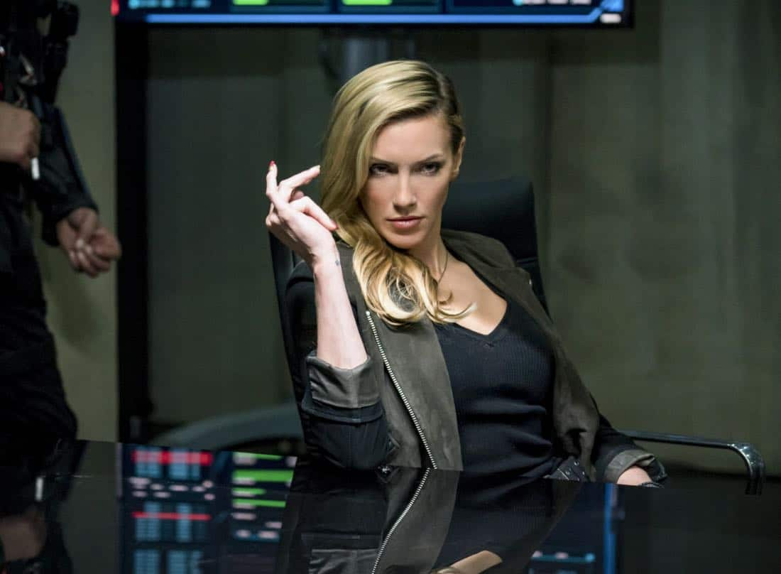 """Arrow -- """"Divided"""" -- Image Number: AR610a_0264.jpg -- Pictured: Katie Cassidy as Laurel Lance/Black Siren -- Photo: Daniel Power/The CW -- © 2018 The CW Network, LLC. All Rights Reserved."""