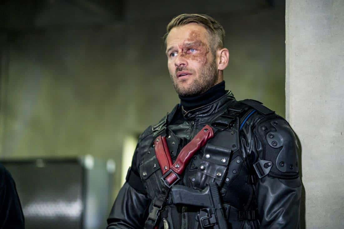 """Arrow -- """"Divided"""" -- Image Number: AR610a_0281.jpg -- Pictured: Johann Urb as Sonny Pederson -- Photo: Daniel Power/The CW -- © 2018 The CW Network, LLC. All Rights Reserved."""