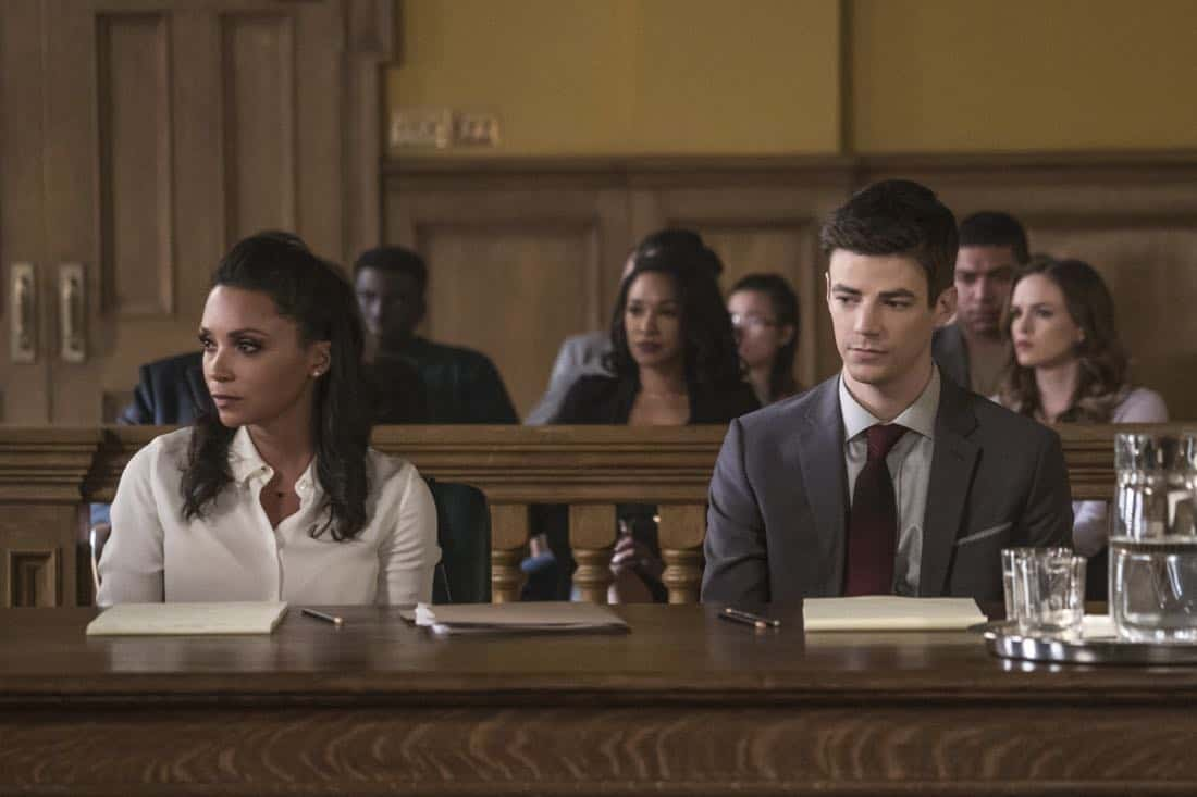 """The Flash -- """"The Trial of The Flash"""" -- Image Number: FLA410a_0040b.jpg -- Pictured (L-R): Danielle Nicolet as Cecile Horton and Grant Gustin as Barry Allen -- Photo: Katie Yu/The CW -- © 2017 The CW Network, LLC. All rights reserved"""