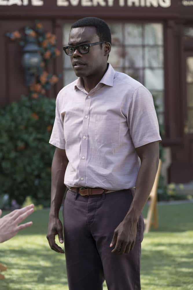 """THE GOOD PLACE -- """"Best Self"""" Episode 210 -- Pictured: William Jackson Harper as Chidi -- (Photo by: Colleen Hayes/NBC)"""