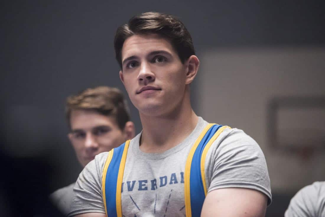 """Riverdale -- """"Chapter Twenty-Four: The Wrestler"""" -- Image Number: RVD211b_0262.jpg -- Pictured: Casey Cott as Kevin -- Photo: Dean Buscher/The CW -- © 2018 The CW Network, LLC. All rights reserved."""