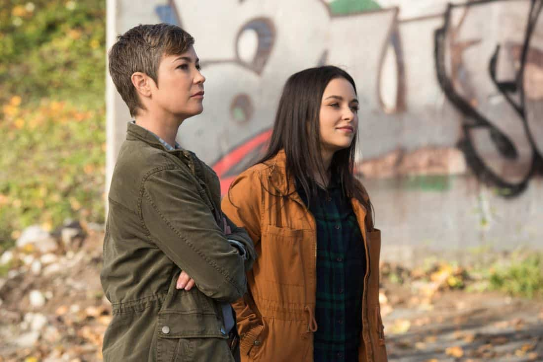 "Supernatural -- ""Wayward Sisters"" -- Image Number: SN1310c_0103.jpg -- Pictured (L-R): Kim Rhodes as Jody Mills and Katherine Ramdeen as Alex -- Photo: Dean Buscher/The CW -- © 2017 The CW Network, LLC All Rights Reserved"