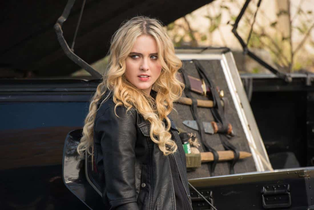 "Supernatural -- ""Wayward Sisters"" -- Image Number: SN1310c_0158.jpg -- Pictured: Kathryn Newton as Claire -- Photo: Dean Buscher/The CW -- © 2017 The CW Network, LLC All Rights Reserved"