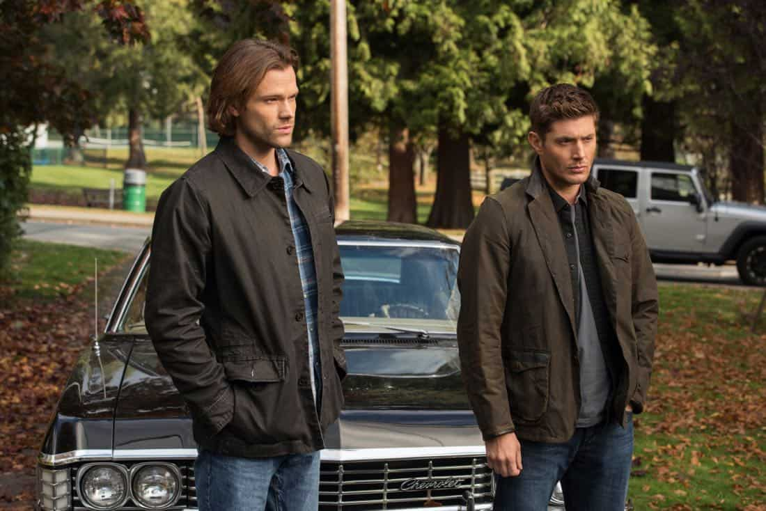 "Supernatural -- ""Wayward Sisters"" -- Image Number: SN1310d_0079.jpg -- Pictured (L-R):Jared Padalecki as Sam and Jensen Ackles as Dean -- Photo: Dean Buscher/The CW -- © 2017 The CW Network, LLC All Rights Reserved"
