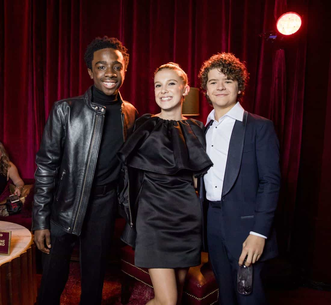 Golden Globes 2018 - Caleb McLaughlin, Millie Bobby Brown, Gaten Matarazzo