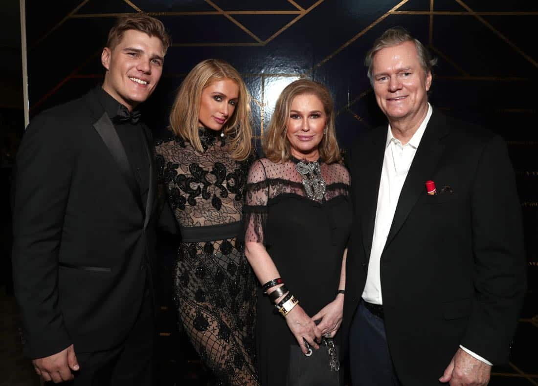 Chris Zylka, Paris Hilton, Kathy Hilton, Richard Hilton