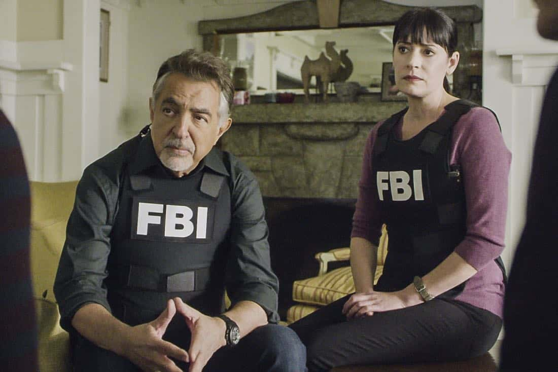 """""""Bad Moon on the Rise"""" -- The BAU is called to New York when several casualties of a brutal nature are reported in Central Park, on CRIMINAL MINDS, Wednesday, Jan. 17 (10:00-11:00 PM, ET/PT) on the CBS Television Network. Pictured: Joe Mantegna (David Rossi), Paget Brewster (Emily Prentiss) Photo: Best Screen Grab Available ©2018 CBS Broadcasting, Inc. All Rights Reserved"""