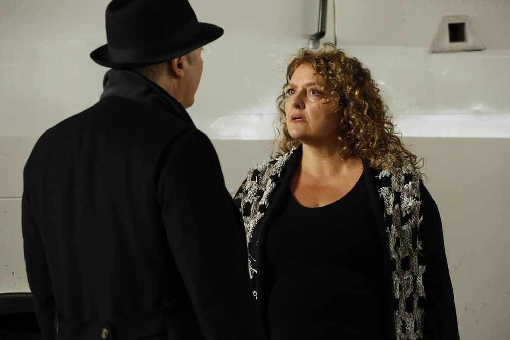 "THE BLACKLIST -- ""Abraham Stern (#100)"" Episode 511 -- Pictured: Aida Turturro as Heddie Hawkins -- (Photo by: Will Hart/NBC)"