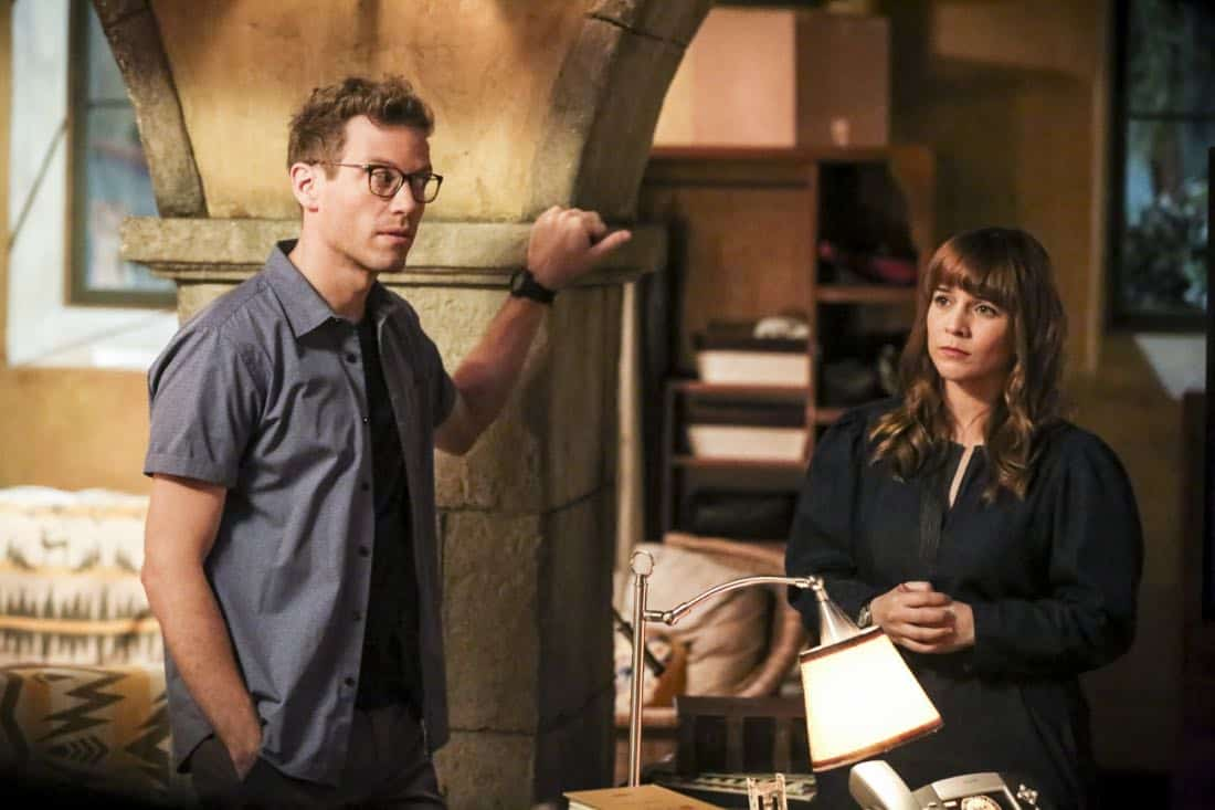 """""""Cac Tu Nhan"""" -- Pictured: Barrett Foa (Tech Operator Eric Beale) and Renée Felice Smith (Intelligence Analyst Nell Jones). While Hetty is being tortured by her captors in Vietnam, Eric and Nell find a clue to her whereabouts, prompting the team to organize a rescue mission with very little information, on NCIS: LOS ANGELES, Sunday, Jan. 14 (9:00-10:00 PM, ET/PT) on the CBS Television Network. Carl Lumbly guest stars as Charles Langston and John M. Jackson guest stars as A.J. Chegwidden. Photo: Michael Yarish/CBS ©2017 CBS Broadcasting, Inc. All Rights Reserved."""