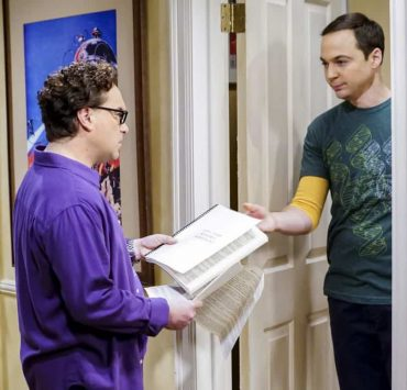 """The Separation Triangulation"" -- Pictured: Leonard Hofstadter (Johnny Galecki) and Sheldon Cooper (Jim Parsons). Koothrappali finds himself in the middle of domestic drama when he learns the woman he's dating, Nell (Beth Behrs), has a very upset husband, Oliver (Walton Goggins). Also, when Sheldon rents his old room back for a quiet place to work, he drives Leonard crazy by being a model tenant, on THE BIG BANG THEORY, Thursday, Jan. 18 (8:00-8:31 PM, ET/PT) on the CBS Television Network. Photo: Sonja Flemming/CBS ©2018 CBS Broadcasting, Inc. All Rights Reserved."
