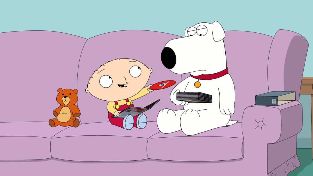 "FAMILY GUY: Stewie and Brian get into a friendship-ending fight after Brian commits a terrible act to one of Stewie's beloved toys in the ""Dog Bites Bear"" 300th episode of FAMILY GUY airing Sunday, Jan. 14 (9:00-9:30 PM ET/PT) on FOX. FAMILY GUY ™ and © 2018 TCFFC ALL RIGHTS RESERVED. CR: FOX"