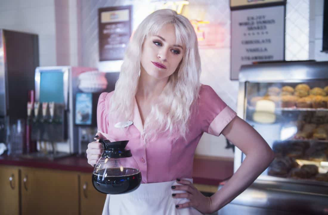 """Supergirl -- """"Fort Rozz"""" -- Image Number: SPG311a_0022.jpg -- Pictured: Brit Morgan as Leslie Willis/Livewire -- Photo: Diyah Pera/The CW -- © 2018 The CW Network, LLC. All rights reserved."""