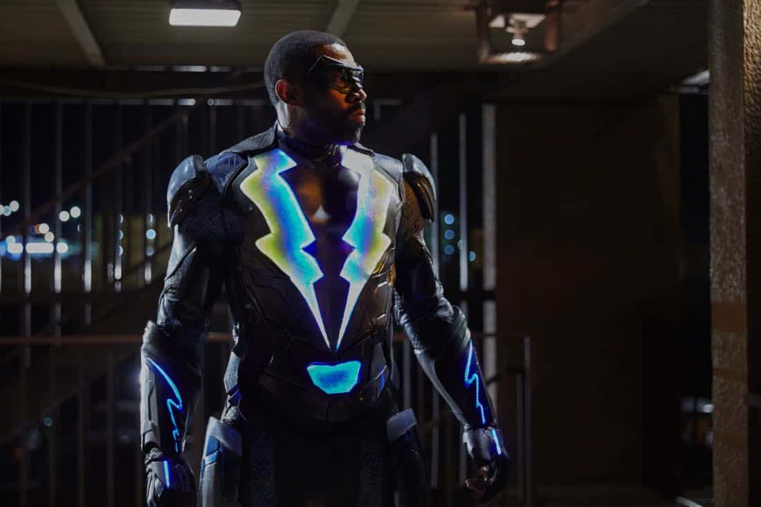 "Black Lightning -- ""The Resurrection"" -- Image BLK101d_0100 -- Pictured: Cress Williams as Jefferson Pierce/Black Lightning -- Photo: Bob Mahoney/The CW -- © 2017 The CW Network, LLC. All rights reserved"