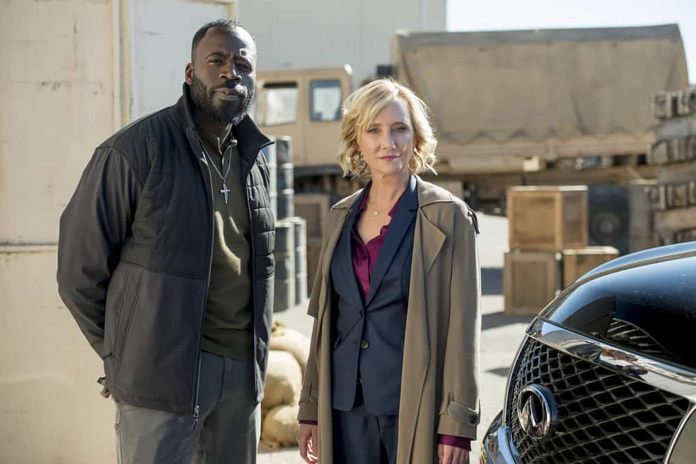 "THE BRAVE -- ""Close to Home, Part 1"" Episode 112 -- Pictured: (l-r) Demetrius Grosse as CPO Ezekiel ?Preach? Carter, Anne Heche as Patricia Campbell -- (Photo by: Lewis Jacobs/NBC)"