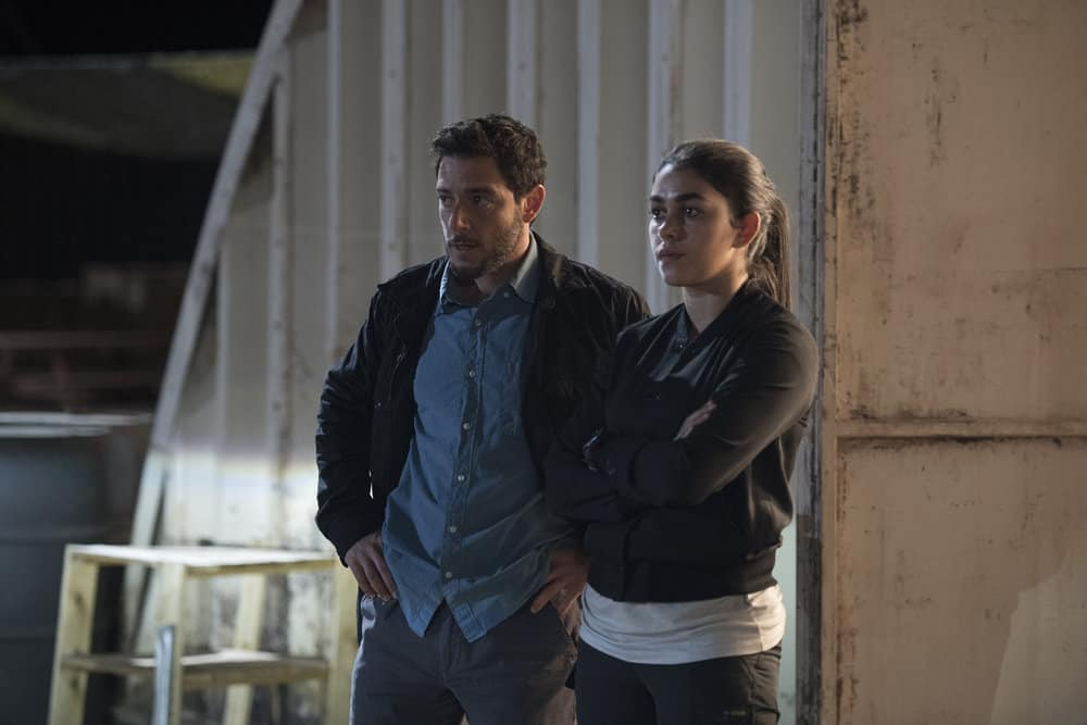 "THE BRAVE -- ""Close to Home, Part 1"" Episode 112 -- Pictured: (l-r) Hadi Tabbal as Agent Amir Al-Raisani, Natacha Karam as Sergeant Jasmine ""Jaz"" Khan -- (Photo by: Lewis Jacobs/NBC)"
