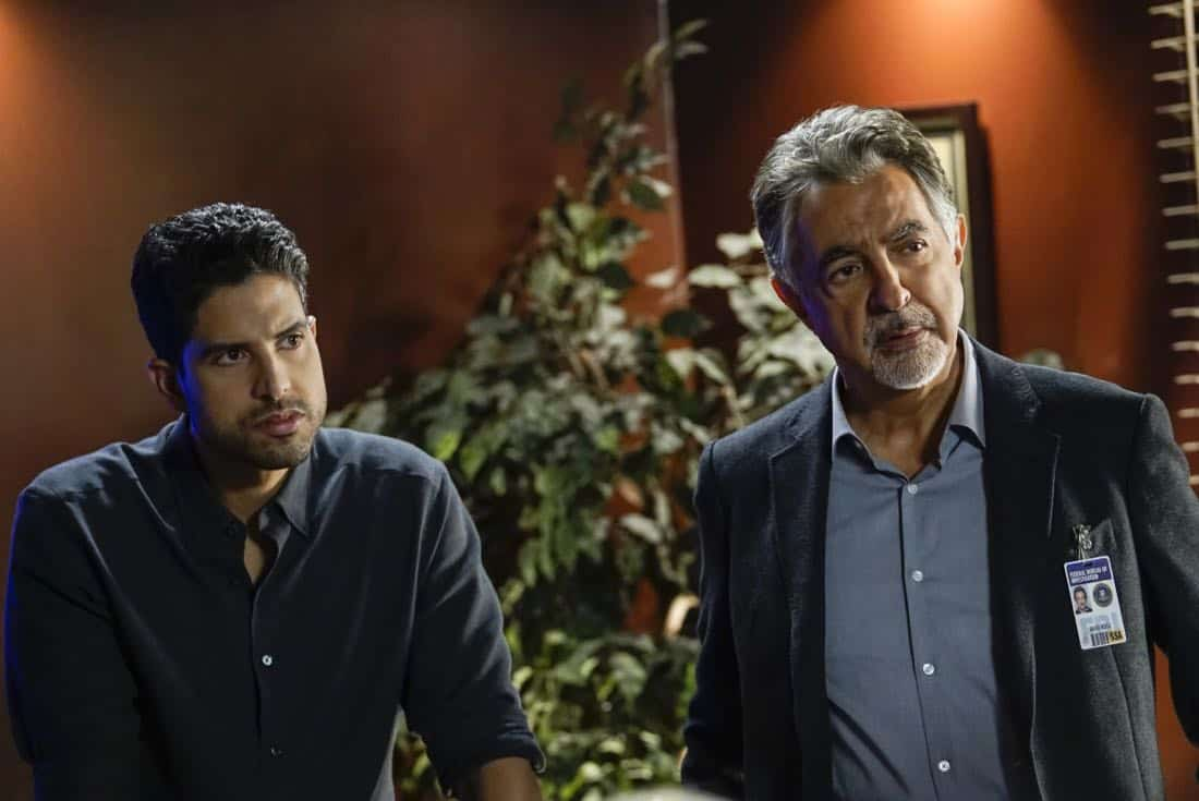 """Cure"" -- The BAU is called to investigate a series of D.C. homicides where cryptic messages are found inside the mouths of each victim, on CRIMINAL MINDS, Wednesday, Jan. 24 (10:00-11:00 PM, ET/PT) on the CBS Television Network.  Pictured: Adam Rodriguez (Luke Alvez), Joe Mantegna (David Rossi)   Photo: Cliff Lipson/CBS ©2017 CBS Broadcasting, Inc. All Rights Reserved"