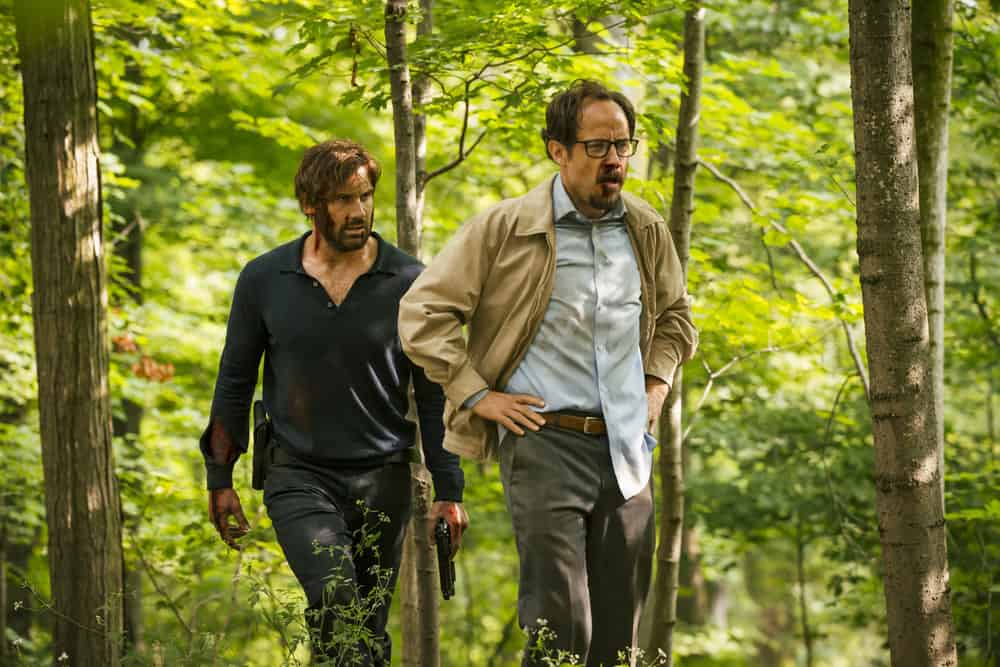 "TAKEN -- ""Quarry"" Episode 202 -- Pictured: (l-r) Clive Standen as Bryan Mills, Alexander Draper as Paul Graham -- (Photo by Jan Thijs/NBC)"