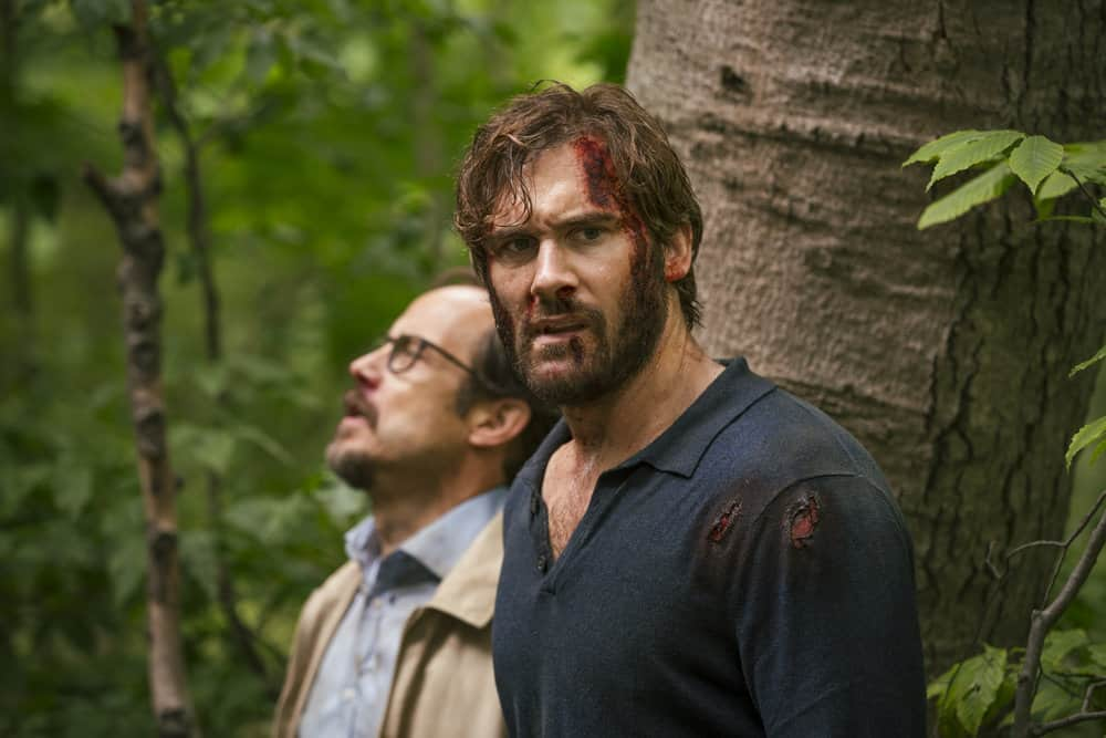 "TAKEN -- ""Quarry"" Episode 202 -- Pictured: (l-r) Alexander Draper as Paul Graham, Clive Standen as Bryan Mills -- (Photo by Jan Thijs/NBC)"