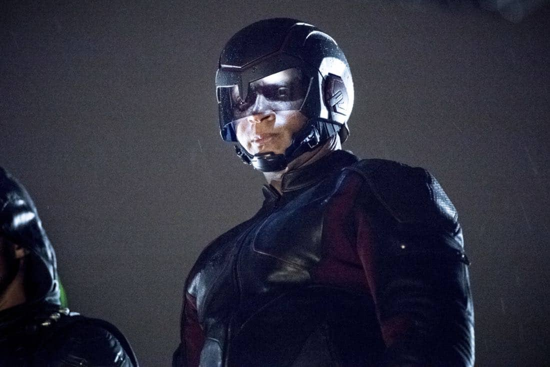"""Arrow -- """"We Fall"""" -- Image Number: AR611a_0265.jpg -- Pictured: David Ramsey as John Diggle/Spartan -- Photo: Dean Buscher/The CW -- © 2018 The CW Network, LLC. All Rights Reserved."""