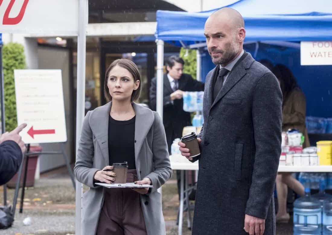 "Arrow -- ""We Fall"" -- Image Number: AR611a_0152.jpg -- Pictured (L-R): Willa Holland as Thea Queen and Paul Blackthorne as Quentin Lance -- Photo: Dean Buscher/The CW -- © 2018 The CW Network, LLC. All Rights Reserved."