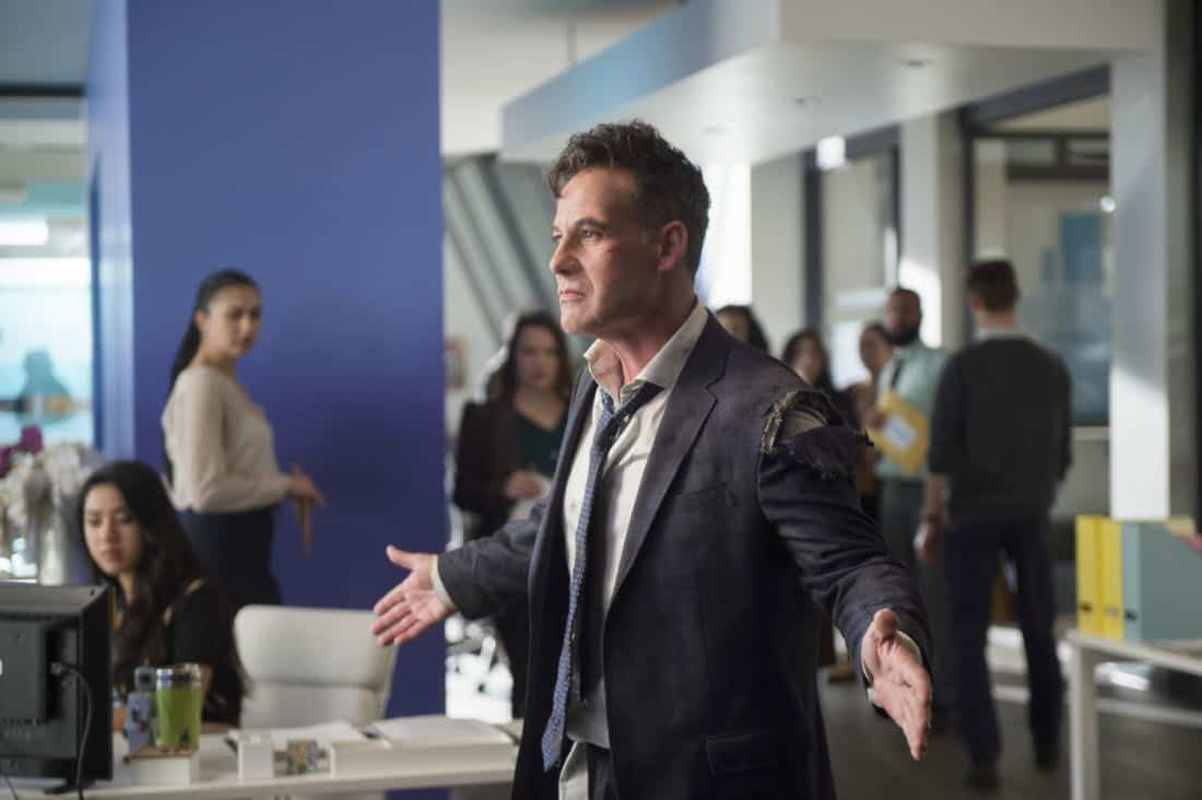 "Supergirl -- ""For Good"" -- Image Number: SPG312a_0312.jpg -- Pictured: Adrian Pasdar as Morgan Edge -- Photo: Diyah Pera/The CW -- © 2018 The CW Network, LLC. All Rights Reserved."