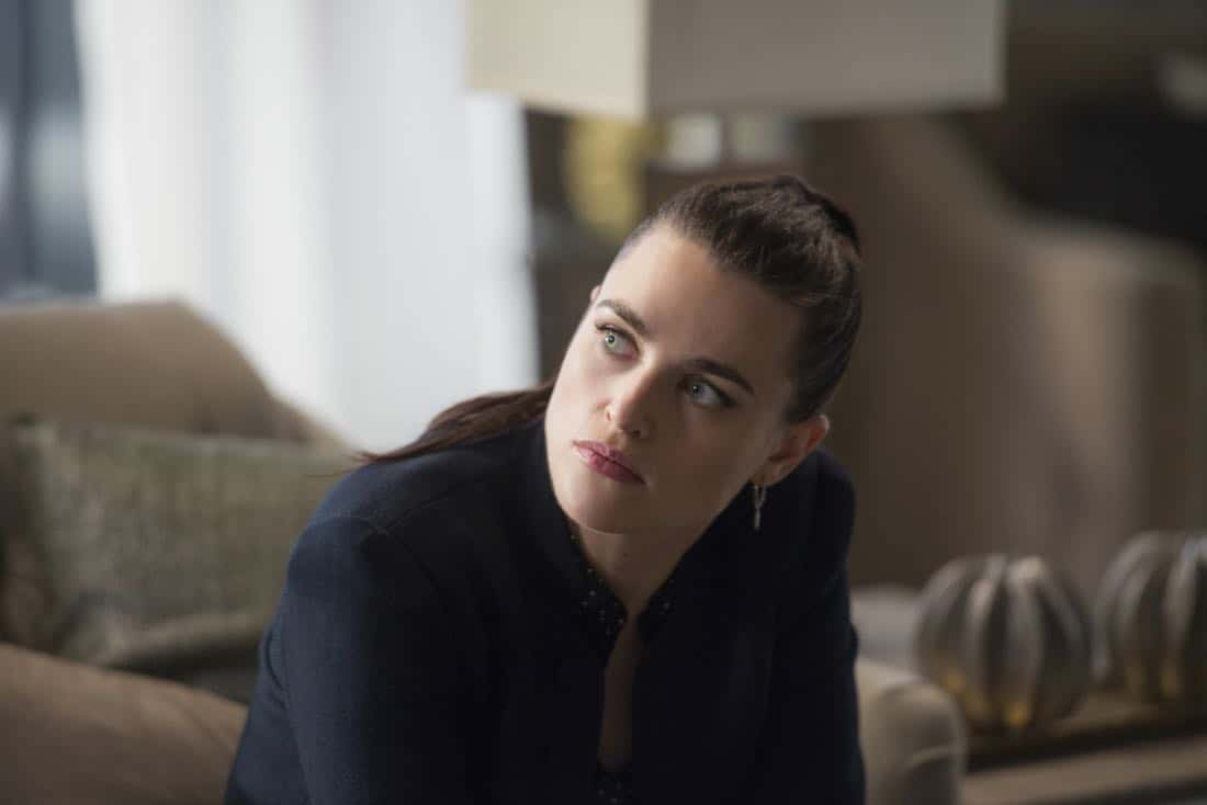 "Supergirl -- ""For Good"" -- Image Number: SPG312a_0079.jpg -- Pictured: Katie McGrath as Lena Luthor -- Photo: Diyah Pera/The CW -- © 2018 The CW Network, LLC. All Rights Reserved."