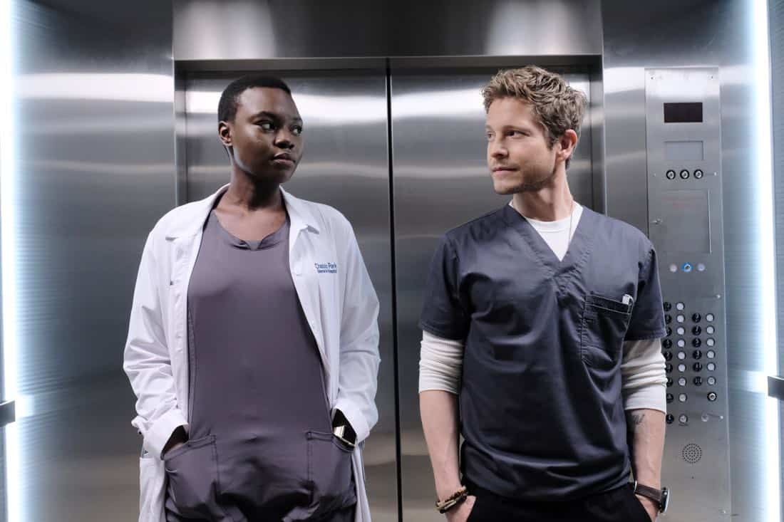 "THE RESIDENT: L-R: Shaunette Renée Wilson and Matt Czuchry in the ""Independence Day"" time period premiere episode of THE RESIDENT airing Monday, Jan. 22 (9:00-10:00 PM ET/PT) on FOX ©2017 Fox Broadcasting Co. Cr: Guy D'Alema/FOX"