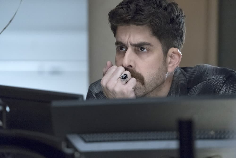 "TAKEN -- ""Hammurabi"" Episode 203 -- Pictured: Adam Goldberg as Kilroy -- (Photo by: Panagiotis Pantazidis/NBC)"