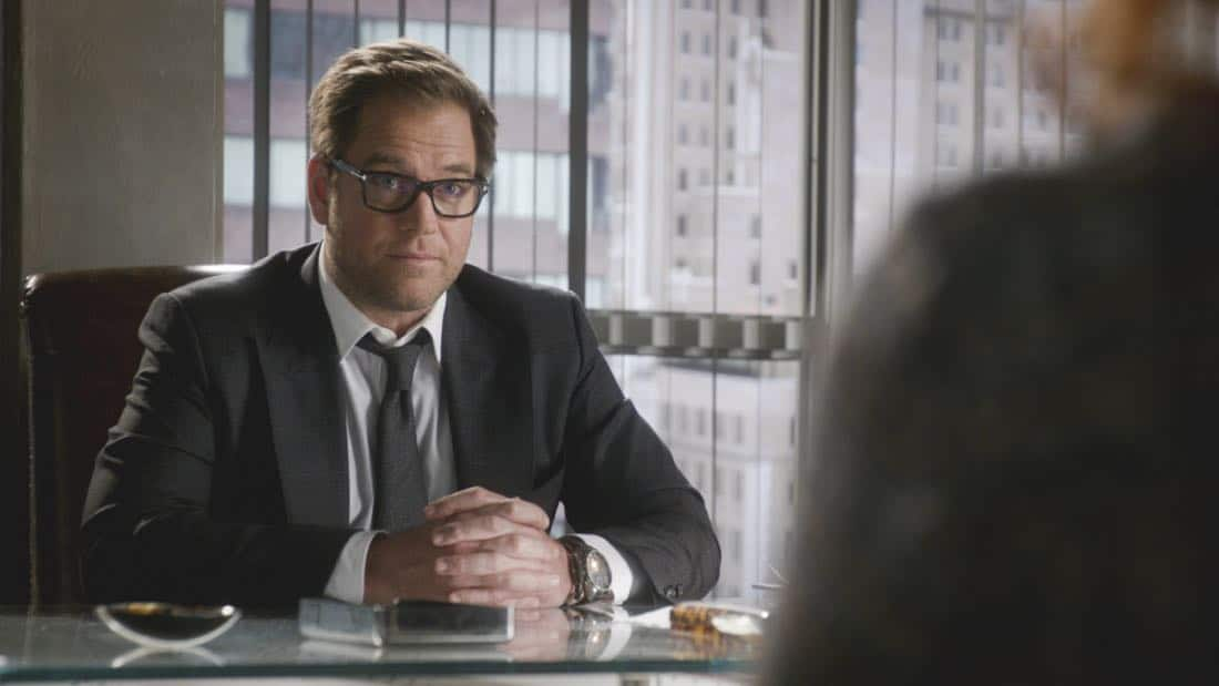 """Kill Shot"" -- A widow hires Bull to help represent her when the police decide that she is the most likely suspect in orchestrating her wealthy husband's death, making it look like a home invasion gone wrong, on BULL, Tuesday, Jan. 23 (9:00-10:00 PM, ET/PT) on the CBS Television Network. Pictured: Michael Weatherly as Dr. Jason Bull Photo: CBS ©2018 CBS Broadcasting, Inc. All Rights Reserved"
