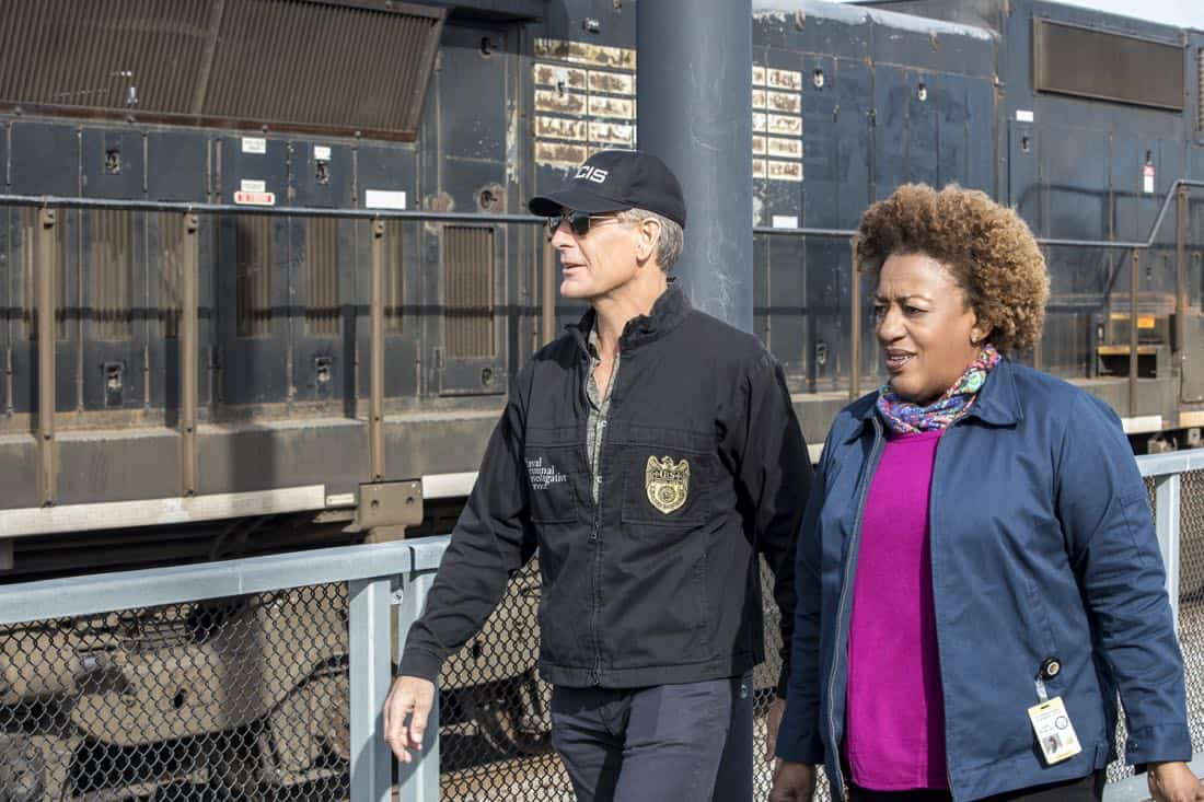 """""""A New Dawn"""" -- The NCIS team investigates the murder of a petty officer who was in town to help a refugee family being recruited by terrorists. Also, Wade works on the special election campaign for Mayor Zahra Taylor (Amanda Warren) that takes place during Mardi Gras, on NCIS: NEW ORLEANS, Tuesday, Feb. 6 (10:00-11:00 PM, ET/PT) on the CBS Television Network. Pictured L-R: Scott Bakula as Special Agent Dwayne Pride and CCH Pounder as Dr. Loretta Wade Photo: Skip Bolen/CBS ©2017 CBS Broadcasting, Inc. All Rights Reserved"""