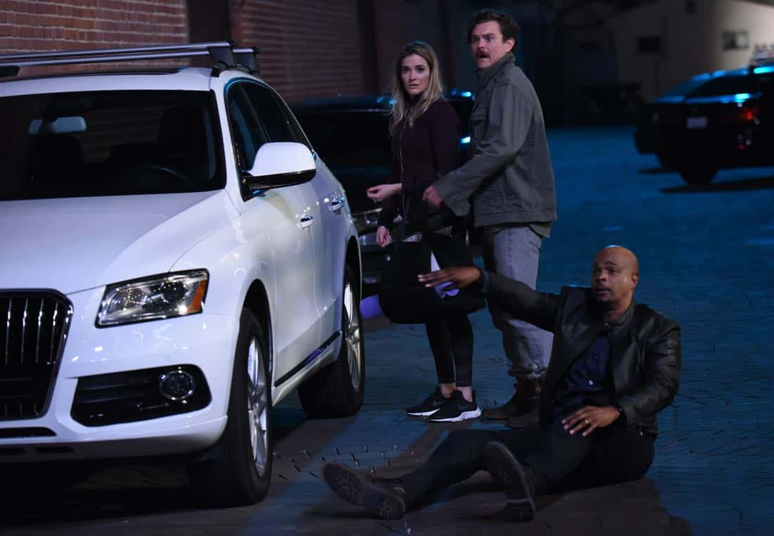 "LETHAL WEAPON: Pictured L-R: Guest star Bre Blair, Clayne Crawford and Damon Wayans in the ""Inconvenient Ruth"" episode of LETHAL WEAPON airing Tuesday, Feb. 6 (8:00-9:00 PM ET/PT) on FOX. ©2018 Fox Broadcasting Co. CR: Ray Mickshaw/FOX"