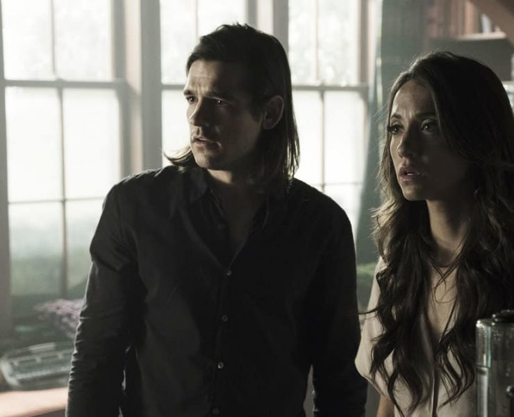 """THE MAGICIANS -- """"Be the Penny"""" Episode 304 -- Pictured: (l-r) Jason Ralph as Quentin Coldwater, Stella Maeve as Julia Wicker -- (Photo by: Eric Milner/Syfy)"""