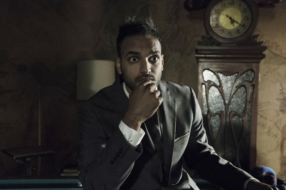 "THE MAGICIANS -- ""Be the Penny"" Episode 304 -- Pictured: Arjun Gupta as Penny Adiyodi -- (Photo by: Eric Milner/Syfy)"