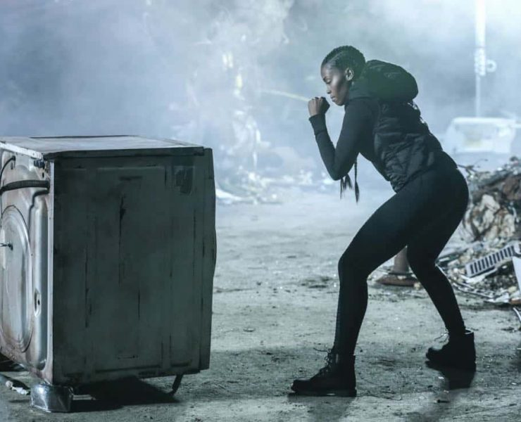 """Black Lightning -- """"LaWanda: The Book of Burial"""" -- Image BLK103a_0189.jpg -- Pictured: Nafessa Williams as Anissa Pierce -- Photo: Carin Baer/The CW -- © 2018 The CW Network, LLC. All rights reserved."""