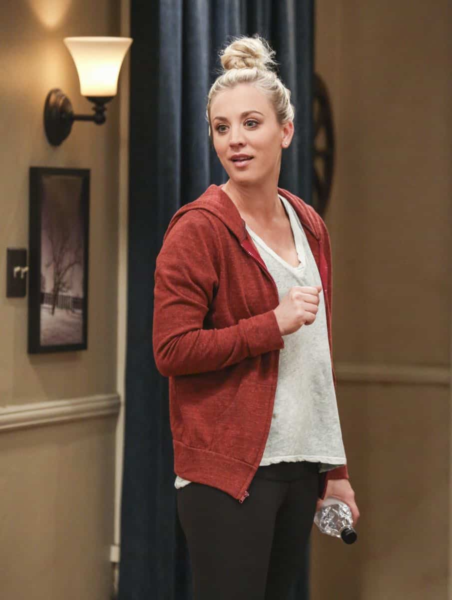 """The Novelization Correlation"" -- Pictured: Penny (Kaley Cuoco). When Sheldon petitions Wil Wheaton to appear on the new Professor Proton show, Wil offers a role to Amy instead.  Also, Penny gets angry when she thinks the female protagonist in Leonard's novel is based on her, on THE BIG BANG THEORY, Thursday, Feb. 1 (8:00-8:31 PM, ET/PT), on the CBS Television Network.   Christine Baranski and Wil Wheaton return to guest star. Photo: Michael Yarish/Warner Bros. Entertainment Inc. © 2018 WBEI. All rights reserved."