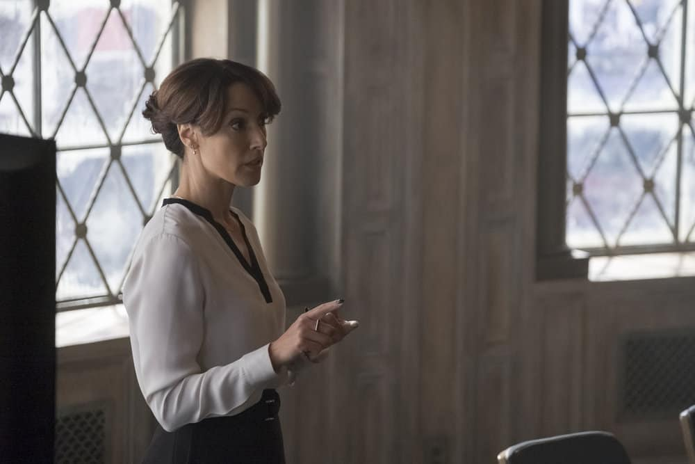 "TAKEN -- ""OPSEC"" Episode 204 -- Pictured: Jennifer Beals as Christina Hart -- (Photo by Panagiotis Pantazidis/NBC)"
