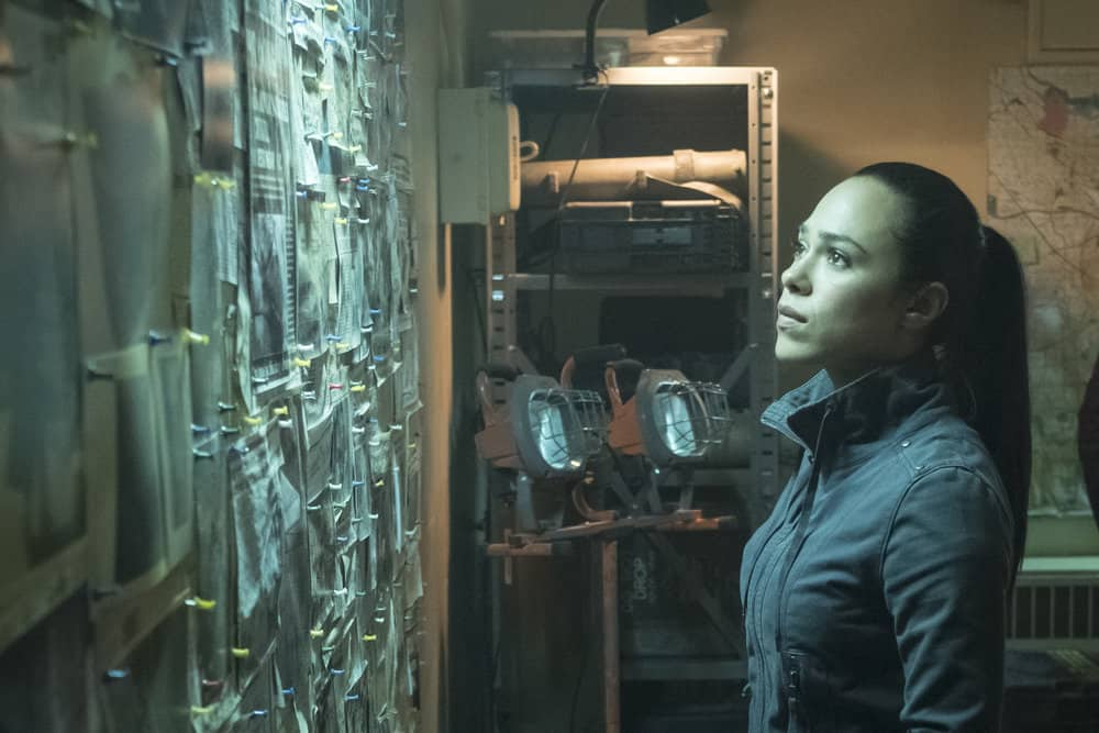 "TAKEN -- ""OPSEC"" Episode 204 -- Pictured: Jessica Camacho as Santana -- (Photo by Panagiotis Pantazidis/NBC)"