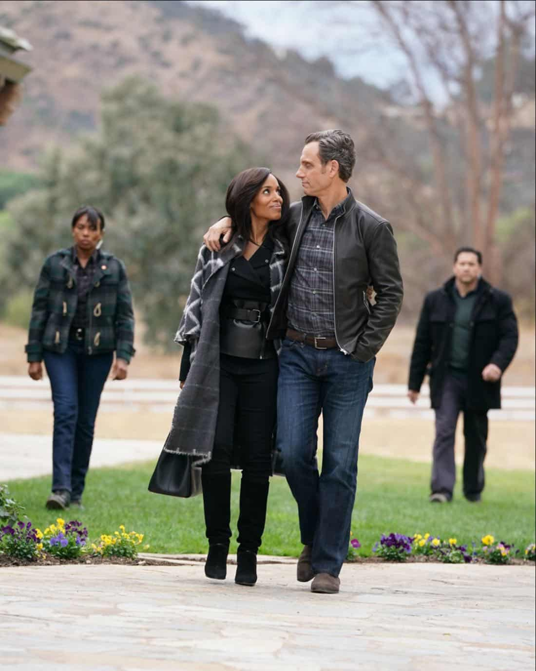 "SCANDAL - ""The People v. Olivia Pope"" - When Olivia agrees to join Fitz in Vermont for what she thinks will be a relaxing getaway, she is shocked to find that her closest friends have orchestrated a relentless intervention. Back in Washington, Cyrus finally reveals his suspicions to Mellie about Olivia and Jake's extracurricular activities, on ""Scandal,"" airing THURSDAY, FEB. 1 (9:00-10:00 p.m. EST), on The ABC Television Network. (ABC/Mitch Haaseth)<br />"