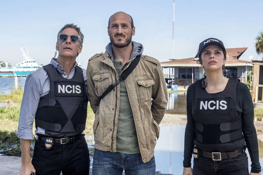 """""""Monster"""" -- After a deadly armed robbery and high-speed chase is connected to an undercover ATF operation, Percy reconnects with her former ATF partner, Jake Roman (L. Steven Taylor), on NCIS: NEW ORLEANS, Tuesday, Jan. 2 (10:00-11:00 PM, ET/PT) on the CBS Television Network. Pictured L-R: Scott Bakula as Special Agent Dwayne Pride, Dylan Kenin as Willard Kurtz, and Vanessa Ferlito as FBI Special Agent Tammy Gregorio Photo: Skip Bolen/CBS ©2017 CBS Broadcasting, Inc. All Rights Reserved"""