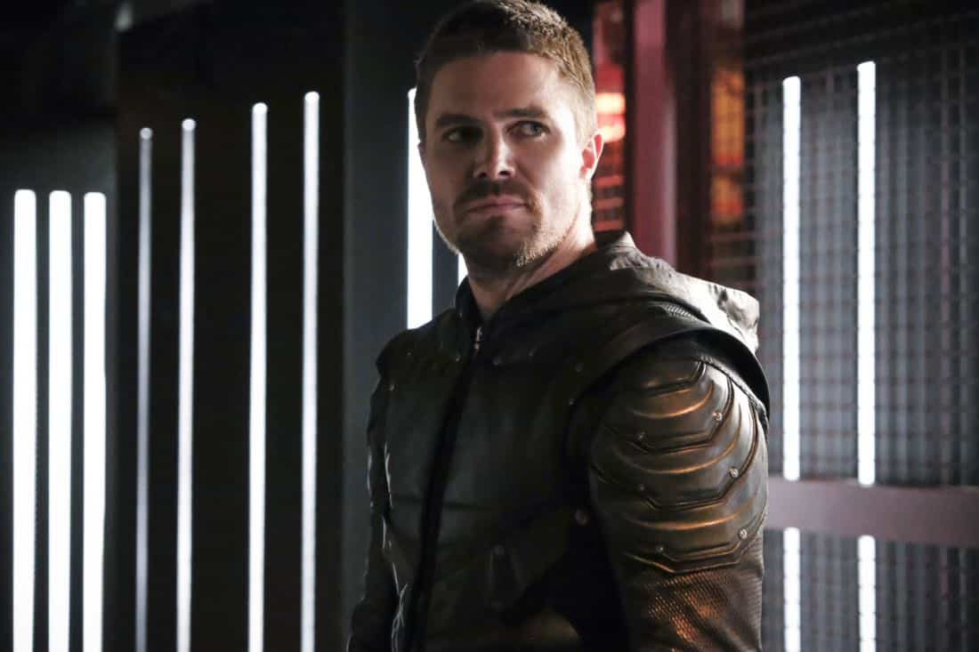"Arrow -- ""All for Nothing"" -- Image Number: AR612a_0255.jpg -- Pictured: Stephen Amell as Oliver Queen/Green Arrow -- Photo: Bettina Strauss/The CW -- © 2018 The CW Network, LLC. All rights Reserved."